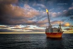71 Degrees North (Squareburn) Tags: seascape 71degreesnorth arcticcircle midnightsun norway offshore fpso