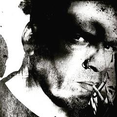 Painting A Punker. 😂 (Gr⊙f: ⊙f the p⊙p) Tags: portrait artistcom blackandwhite bw me moi man him self himself selfie autoportrait