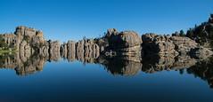 sylvan lake reflection custer state park south dakota (Mferbfriske) Tags: custer state park south dakota badlands reflections morning water sylvan lake national