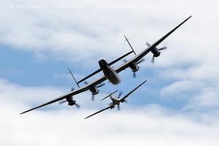 7841 BBMF Lancaster & Spitfire PS915