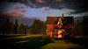 Little Red House (Sworldguy) Tags: farmhouse abandoned derelict shadows building sky summer lawn landscape field dusk homestead canada britishcolumbia langley grass turf old empty nikon d7000 dslr architecture