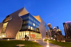 2017-0623台中歌劇院 DSC_0093 (linlin055) Tags: 台中國家歌劇院 台中市 taichungcity cityscape city bluenight nightscape 夜景 街景 戶外 建築物 燈光 藍天 藍色 色溫