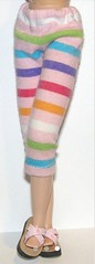 Pink Rainbow Striped Capri Pants...For Blythe...