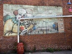 Graffiti Mural (1995) by Tats Cru at The Point, Hunts Point, Bronx, New York City (jag9889) Tags: 2017 20170603 allamericacity bronx garrisonavenue graffiti huntspoint mural ny nyc newyork newyorkcity outdoor painting southbronx streetart tagging tatscru thebronx thepoint usa unitedstates unitedstatesofamerica wall jag9889 us