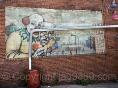 Graffiti Mural (1995) by Tats Cru at The Point, Hunts Point, Bronx, New York City (jag9889) Tags: 2017 20170603 allamericacity bronx garrisonavenue graffiti huntspoint mural ny nyc newyork newyorkcity outdoor painting southbronx streetart tagging tatscru thebronx thepoint usa unitedstates unitedstatesofamerica wall jag9889 us