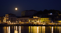 Full moon (Argiris Papaioannou) Tags: nikon night d3300 beautiful reflection greece city view colours colorful landscape lights