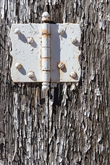 Depends who you ask (A Different Perspective) Tags: arizona holbrook usa hinge paint peel rust wall white wood worn