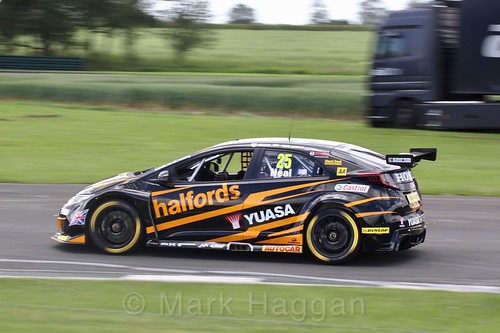 Matt Neal in BTCC action at Croft, June 2017