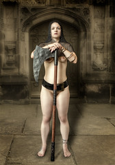 The Executioners Daughter 2 (Brian L55) Tags: woman nude helmet axe chainmail warrior executioner
