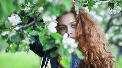 Young redhead girl outdoors (n_lev44) Tags: ifttt 500px leaves flowers portrait girl beauty spring nature fresh tree beautiful branch closeup natural seasonal woman adult style model green vivid serious young redhead long hair mysterious gorgeous artistic outdoors casual blossom attractive