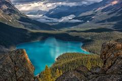 Celebrating Canada (Philip Kuntz) Tags: canadaday dominionday ocanada canadianrockies peytolake banff banffnationalpark bowsummit stormy hikes alberta canada