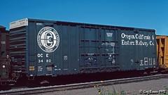 Blue is both a State of Mind and a Color (C.P. Kirkie) Tags: oce oregoncaliforniaeastern boxcar ocerailway freighttrain trains railroads perdiem freightcar