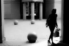 Sunny day (andersåkerblom) Tags: blackandwhite silhouette woman streetphotography street monochrome