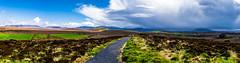 Storm and Sunshine (Bom-he) Tags: irland ireland ballycroy nationalpark storm sunshine panorama landscape landschaft path way weg pfad