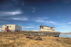 Tranquil (savillent) Tags: tuktoyaktuk nwt canada northwest territories nt north arctic region polar climate skies clouds boat marine blue landscape spring photography nikon d800e june 2017