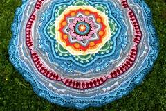 2017.06.20. mandala madness part 14 3129m (villanne123) Tags: 2017 mandala mandalamadness crochet crochetmandala villanne virkattua virkattu virkattumandala schachenmayrwool125 part14done