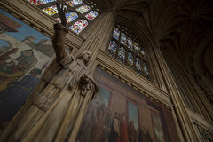 NH0A7097s (michael.soukup) Tags: westminster palace london uk unitedkingdom england houseofcommons thames gothic architecture stainedglass hall royalgallery fresco statue