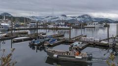 Sitka Harbor (lgflickr1) Tags: alaska sitka harbor boat water fisherman clouds overcast calm harbour