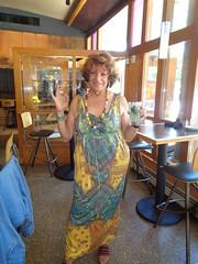 Photogenic? (Laurette Victoria) Tags: bar louises mojito cocktail laurette woman milwaukee dress auburn