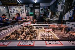 Kuromon market in Osaka (Arbit Bamboo0101) Tags: arcade market colours asia wideangle foigtlander people wideanglelense city sony town light a7ii a72 sightseeing urban food digital 15mm swh color alpha72 sonyalpha osaka japan cool