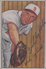 1952 Bowman - Dick Kryhoski #133 (First Baseman) (b. 24 Mar 1925 - d. 10 Apr 2007 at age 82) - Autographed Baseball Card (St. Louis Browns) (Baseball Autographs Football Coins) Tags: 1952 bowman 1952bowman 1952bowmanbaseball baseball cards baseballcard vintage auto autograph graf graph graphed sign signed signature dickkryroski stlouisbrowns firstbase