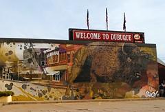 Dubuque Iowa (Cragin Spring) Tags: midwest unitedstates usa unitedstatesofamerica iowa ia mural dubuque dubuqueia dubuqueiowa downtown buffalo