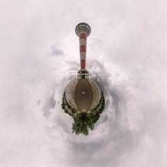Leuchtturm Blankenese (HamburgerJung) Tags: hamburg germany deutschland hugin panasonicgm5 blankenese leuchtturm wolken grau stereographic planet littleplanet