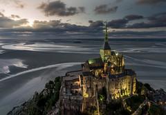 Low Tide (mcalma68) Tags: low tide mount saint michel landscape sunset panoramic drone