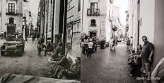 Conquered Town, Cefalú 1943-2017 (Dave G Kelly) Tags: robertcapa sicily italy italia ww2 cefalú bw blackandwhite thenandnow magnumphotography cefalù 2017 summer