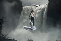 """Resurrection"" (Kavan The Kid) Tags: kavan kid photoforge photography art self portrait waterfall levitation magic abstract fine fineart magicial surreal ethereal fantasy photoshop photograph dark beauty eccentric weird eerie death"