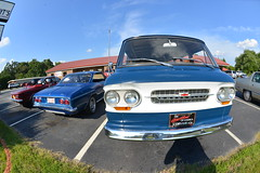 Classic Cars Corvair Club Hoyt's Restaurant Lexington, NC 20170710_4244 (Shane's Flying Disc Show) Tags: classiccars corvairclub davidson nc lexinton unsafeatanyspeed daredevils