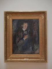 DSCN9141 _ Self-Portrait with Cigarette, 1895, Edvard Munch, SFMOMA (Matthew Felix Sun) Tags: sanfrancisco sfmoma museum munch edvardmunch exhibition july 2017 betweentheclockandthebed