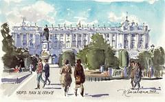 Plaza de Oriente y Palacio Real (P.Barahona) Tags: palacio plaza urbano madrid arquitectura jardines