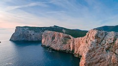 Capo Caccia (nicolamariamietta) Tags: alghero capocaccia dji phantom4pro aerial bay coast coastline colors drone landscape nature nobody ocean outdoors rock sardinia sea sky sunset travel view water