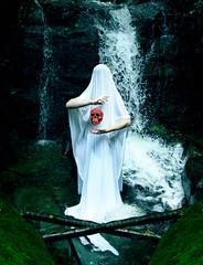 Nemesis (Jphoto08) Tags: conceptualphotography skull calavera white ghost fantasma forest river río water agua
