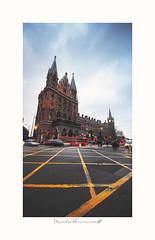 - Sant Pancras - (-Montxo-) Tags: london estacion urbano nubes squareformat square calles color sant pancras