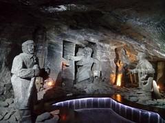 Wieliczka Salt Mine - The Treasurer sculpture (pantkiewicz) Tags: poland wieliczka salt mine treasurer