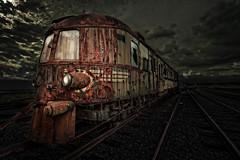 the night train has come (Goddl) Tags: orient express locomotive train adventure heavy metal rust holiday mystical night eisenbahn zug abenteuer schwermetall rost urlaub mystisch nacht