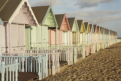 (Josieroo13) Tags: beachhuts beach coast coastal sand shoreline shore pastel paintedladies quaint seaside uk england essex merseaisland