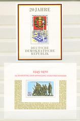 Archiv N132 DDR Sonderbriefmarke, 1969 und 1970 (Hans-Michael Tappen) Tags: archivhansmichaeltappen briefmarken stamps ephemera ddrzeit deutschepost ostalgie 1960s 1960er 1970er 1969 druck gestaltung design papier farbtechnik farbe post grafik