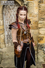 IMG_9482.jpg (Neil Keogh Photography) Tags: silver whitbygothweekend steampunk sword shoulderguards viking brown steampunkdress armguards red warrior goth armour blouse whitby top female woman whitbygothicweekendapril2017 facepaint black gothic trousers leather waistcoat white
