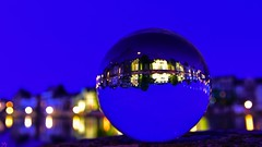 Blue Night (YᗩSᗰIᘉᗴ HᗴᘉS +7 000 000 thx❀) Tags: bluehour crystal cristal bouledecristal ball sphère blue night namur namurbynight water hensyasmine belgium