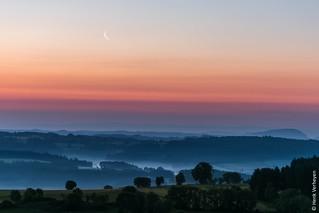 Sunrise in Allegre - Auvergne, France