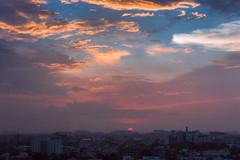 Cityscape (Vilvesh) Tags: chennai sunset evening cityscape city buildings sky skybluesky dusk dawn nature sun urban tamilnadu india nikond750 nikon24120mm clouds mychennai landscape