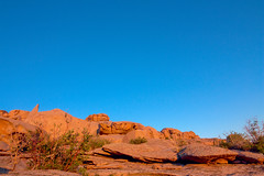 Sunset hour (busitskee) Tags: landscape nature rock mountain desert red blue sky