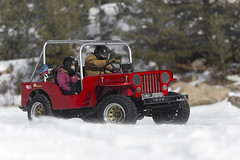 Ice Racing Willy's Jeep (Desert-Motors Automotive Photography) Tags: iceracing colorado ice racing frozenlake lake jeep willys v8 viacorsa viacorsamagazine