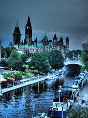 Enchanted (vic.devo) Tags: olympusomdem10markii ottawa parliamenthill rideaucanal hdr highdynamicimage blue water waterway clouds