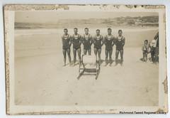 Byron Bay Surf Club team at Yamba c1937 (RTRL) Tags: byronbay surflifesaving surfclub surflifesavingcarnival