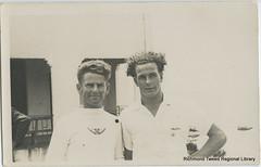 Eric Wright & Brian Brooke c1939 (RTRL) Tags: byronbay surflifesaving surfclub surflifesavingcarnival