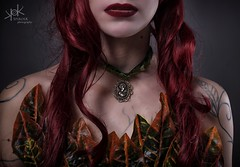 Steampunk Cosplay: Gotham Sirens. Maru-chan's Poison Ivy Details. by SpirosK photography (SpirosK photography) Tags: steampunk steampunkgothamsirens gotham sirens gothamsirens dccomics dcuniverse dc spiroskphotography maruchan details studio photoshoot marousso poisonivy